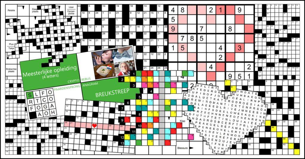 Woordzoeker Kruiswoordpuzzel Kruiswoordraadsel Puzzelmaker Puzzel Sudoku Cijfercode Codekraker #Cryptogram Scrypto Denksport Rebus Filippine Zweeds