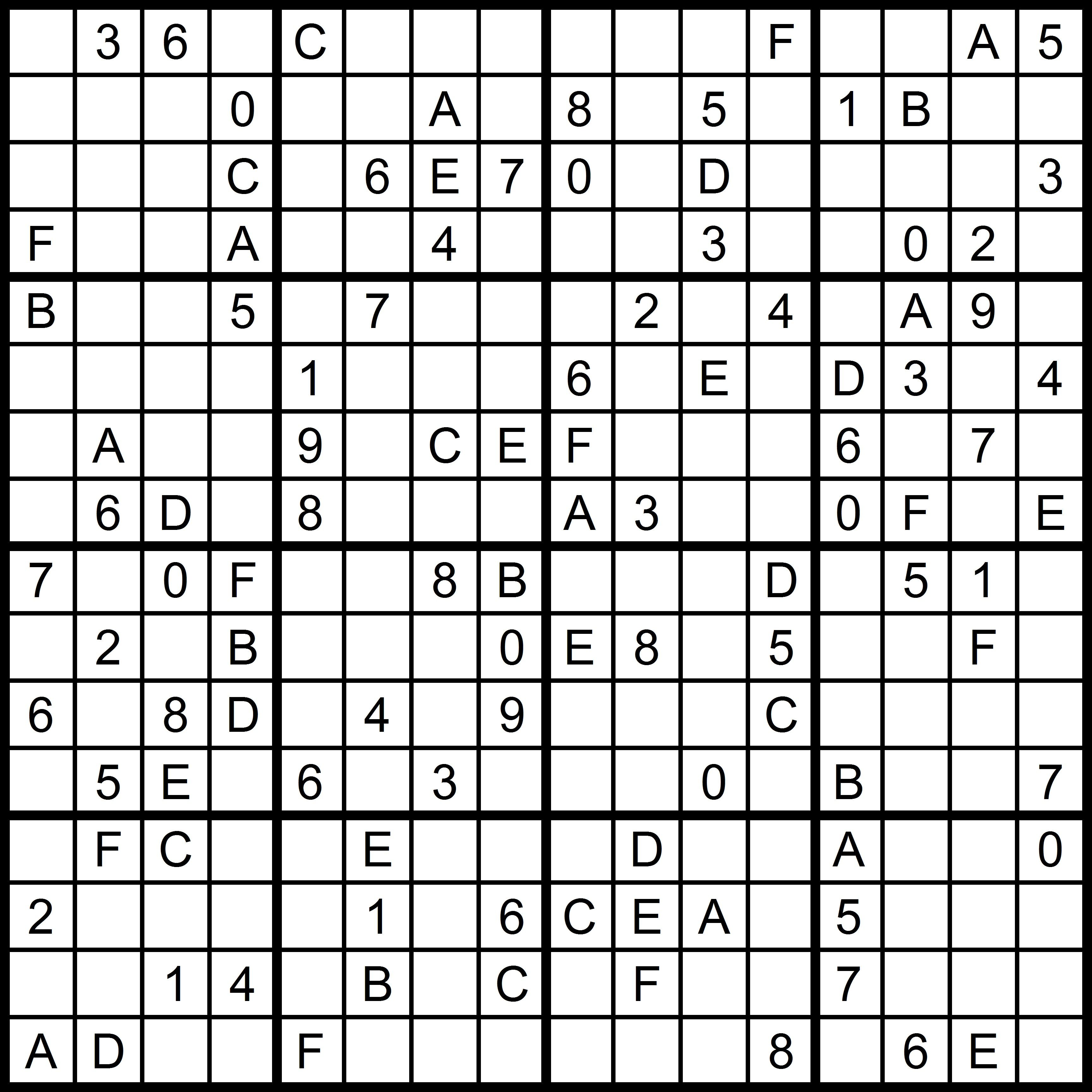 photograph relating to Sudoku 16x16 Printable titled Sudoku Letters - Letter.BestKitchenView.CO