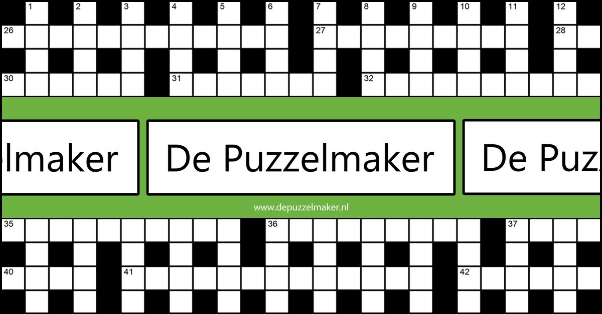 De Puzzelmaker puzzelen kruiswoordpuzzel kruiswoord kruiswoordraadsel themapuzzel themapuzzle crossword puzzel puzzle Marije van Asselt